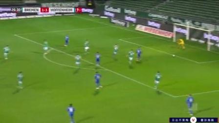 第27分钟霍芬海姆球员斯科夫射门 - 打偏