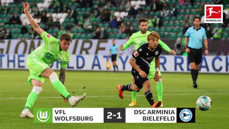 德甲-韦格霍斯特建功堂安律送助攻 狼堡2-1比勒费尔德