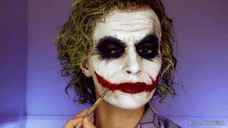 【游民星空】美女化妆变《黑暗骑士》版小丑