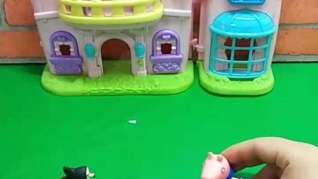 有趣的幼教玩具:乔治为了救姐姐变成一只恐龙