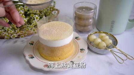 甜品在家轻松get!白玉豆乳奶盖蛋糕
