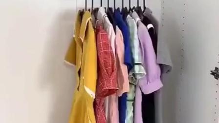 家里衣柜小,太多衣服放不下,安排一个九孔衣架