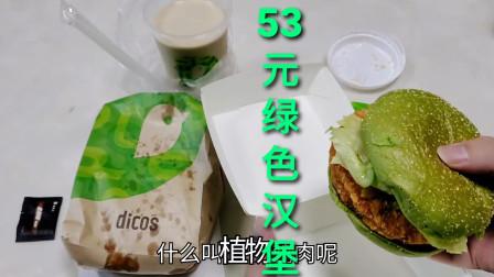 """53元""""纯绿色鸡肉汉堡"""",会好吃吗"""