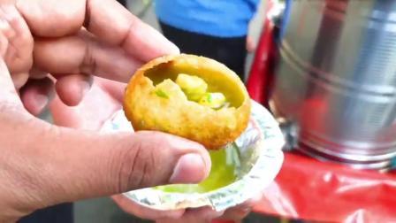 街拍印度国民小吃,小泡泡Pani Puri