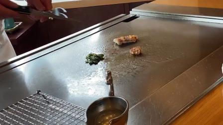 三种食材也能烹饪出艺术效果,日本铁板烧