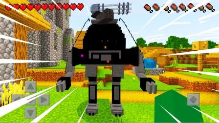 游游解说我的世界:战斗机器人,全自动跟踪攻击僵尸