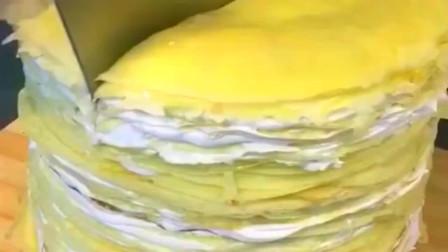 吃榴莲千层蛋糕吃出了泥石流,不过这样的泥石流给我来十个