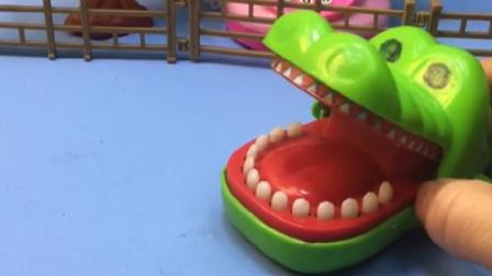 大鳄鱼肚子好饿呀,这个房子可不能吃