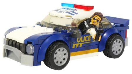 积木小零件拼装汽车和玩偶