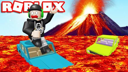 Roblox岩浆求生:躲避火山爆发!得到漂浮重力枪?咯咯多解说