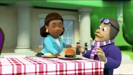 儿童益智动画汪汪队,庆功宴上古威市长邀请莱德当她的船长