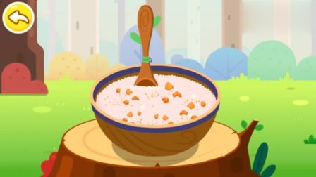 游戏宝宝巴士米饭和或萝卜搭配,制作出美味的饭团