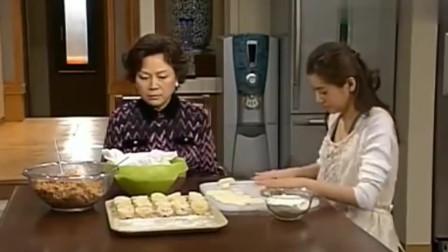 人鱼小姐:雅丽瑛和朱旺妈和好如初,两人还一起做泡菜水饺吃!