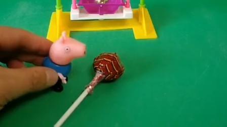 乔治在外面玩,结果让巨人给抓走了,佩奇赶紧去救乔治了!