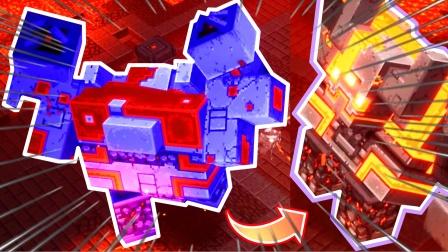 我的世界地下城15:挑战战争机器,烈焰厂BOSS红石巨兽!