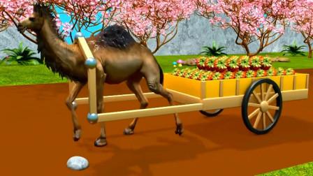 动物动画 骆驼运输菠萝
