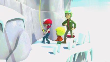 汪汪队:莱德爬下悬崖,带着亚力爬上去!
