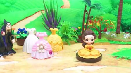 童话故事玩具:贝尔帮王后打扫卫生是为了什么?贝尔想送白雪什么东西?