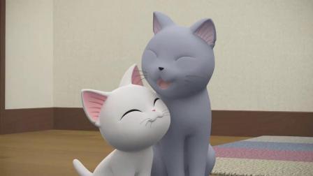 甜甜私房猫:小白白,你真棒!