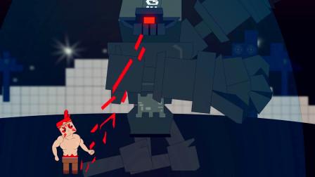 迷你小洞:红毛洞悲君超强战力,石巨人被一脚踹上天,小绿龙竖起大拇指