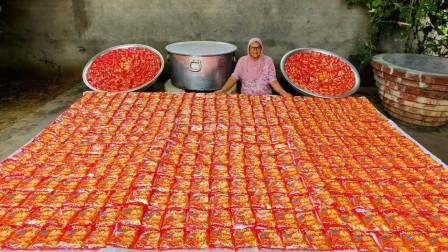 土豪是怎么吃方便面的?一次煮1000包,成品太感人