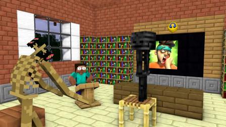 我的世界动画-怪物学院-巴掌王对战-MoshiMoshieCraft