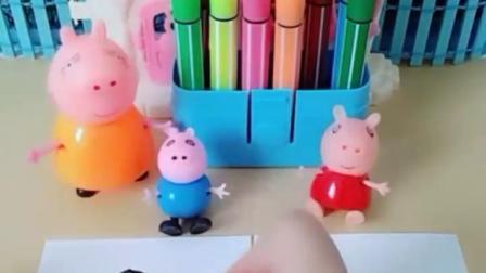 有趣的幼教玩具:佩奇和乔治在学校谁没有好好学习呢