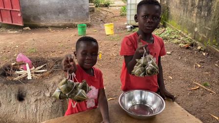 中国粽子走进非洲,小朋友们吃的太香根本停不下来
