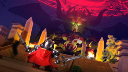 小骑士挑战大魔王,没想到神龙乱入