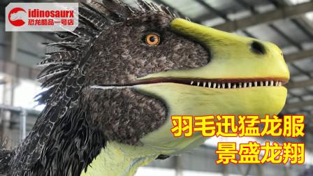 羽毛迅猛龙款式演出服 - 仿真恐龙装束制造