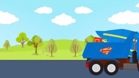 工程车趣味动画:越野车有神奇的力量误入歧途,被警车营救