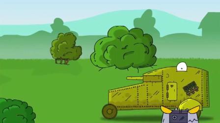坦克世界:坦克拿栅栏作为武器插入敌人心脏