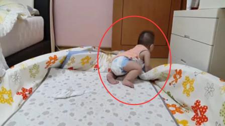 妈妈加班还没回家,8个月大的宝宝睡醒找妈妈,看得让人急死了