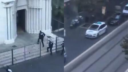 法国尼斯一座教堂发生持刀 一名女子被斩首