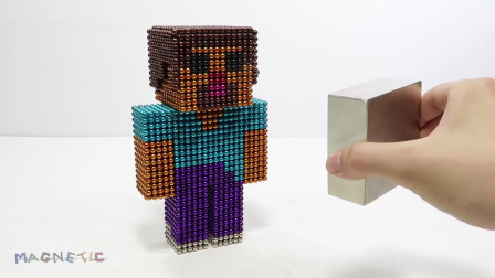 我的世界动画-如何用小磁球做史蒂夫-Magnetic Satisfying