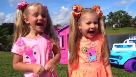 国外少儿时尚,小姑娘们用饼干交换玩具,真搞怪啊