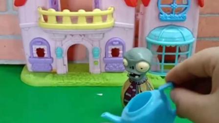 有趣的幼教玩具:倒霉的僵尸把玉米大炮种出来了