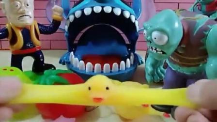 有趣的幼教玩具:僵尸也想买玩具,结果吓跑了