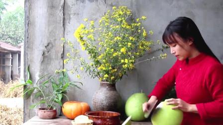 晶莹剔透的蜂蜜柚子茶,李子柒的做法超简单