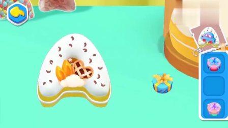 《宝宝巴士》奇奇学习英文字母,和小朋友一起做字母蛋糕