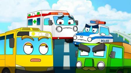 亲宝汽车传说:敏捷的救护车爱宝 看到救护车要主动让道
