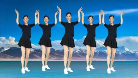 精选广场舞《明月夜》网红64步健身操