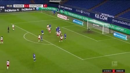第61分钟斯图加特球员卡拉佐尔射门 - 被扑