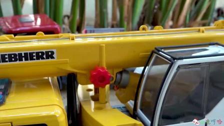 成长益智玩具,横着行驶的吊车和工程车!