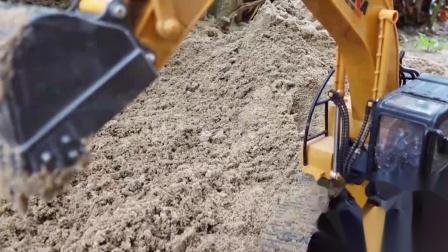 成长益智玩具,修建小城堡,挖掘机挖沙行动!