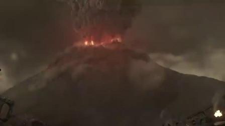 远古火山大爆发,浓烟遮天蔽日,仿佛预告着末日来临