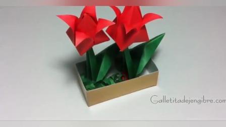 幼儿益智手工:diy盆栽花和浇花小水壶