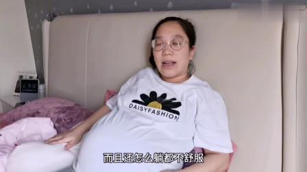 农村孕妇双胞胎超预产期10天,肚子太大难以入睡,直呼再也不生孩子