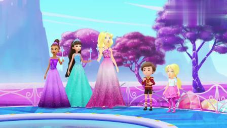 芭比之梦境奇遇记:公主们使用魔法,想让白天变成黑夜,却失败了
