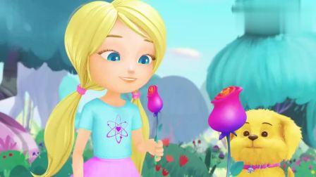 芭比之梦境奇遇记:凯丽刚摘了一朵花,另一朵就长出来了,真神奇
